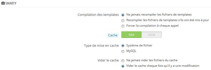 Performances PrestaShop optimisation du cache
