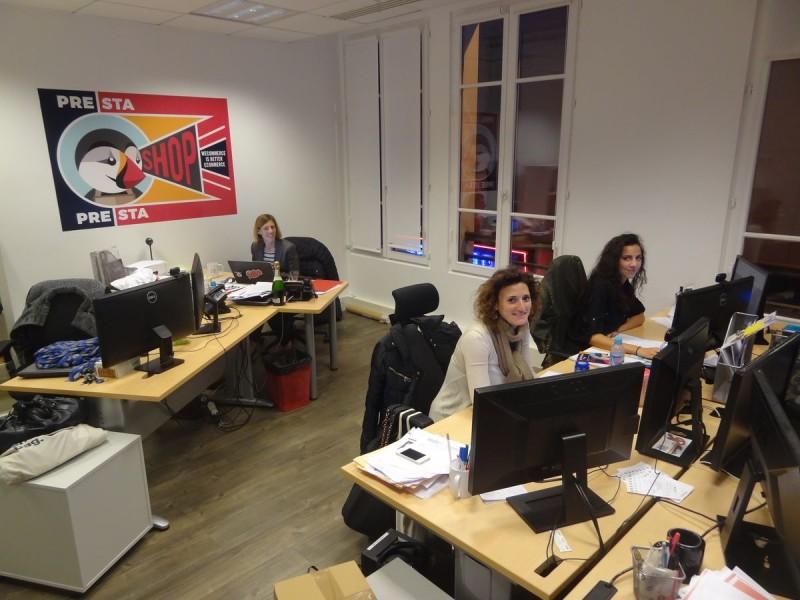 L'équipe de PrestaShop Paris