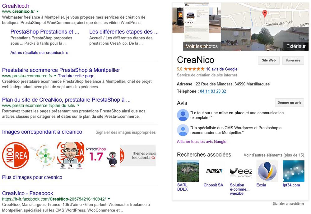 Google Knowlegde Graph CreaNico