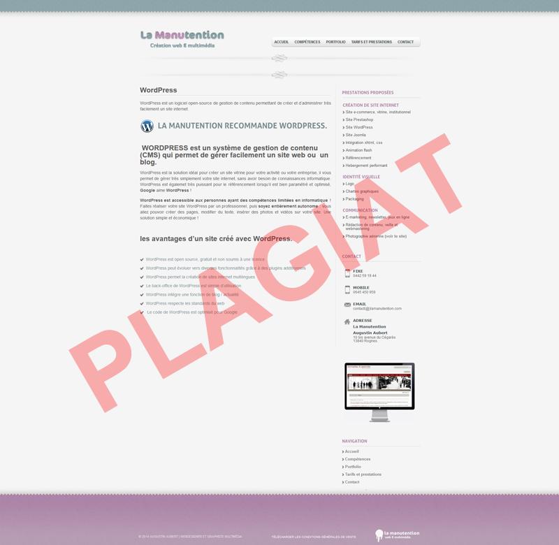 Plagiat Augustin Aubert Lamanutention.com
