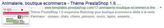 Méta-données boutique PrestaShop