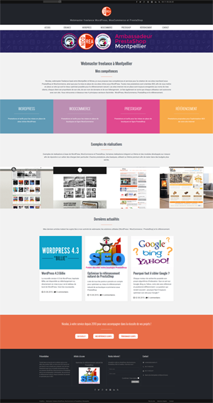 Site CreaNico - Structure WordPress en silos