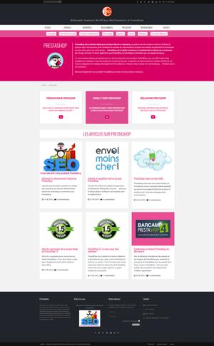 Site CreaNico - Structure WordPress en silos